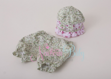 Pink & Green Flapper Hat